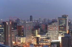 個人レッスン中の大阪上空