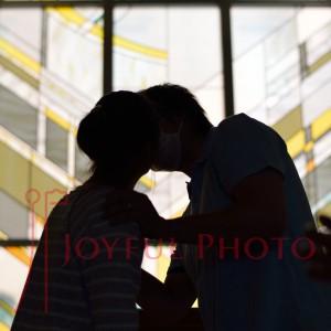 結婚式のリハーサル 誓いのキス