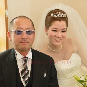 新婦と新婦の父